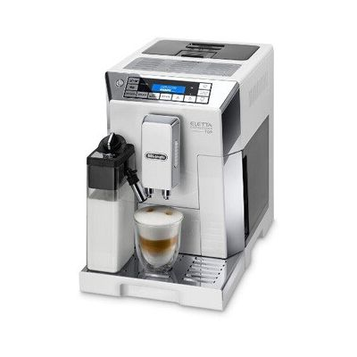 image Delonghi ECAM45.760.W Eletta Machine à Café Cappuccino Top avec Broyeur, 1450 W, Blanc