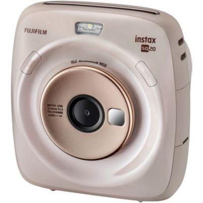 image Fujifilm Instax Square SQ20 Beige Appareil photo instantané Beige/Noir & Film pour Appareil Instax Square SQ10 Blanc