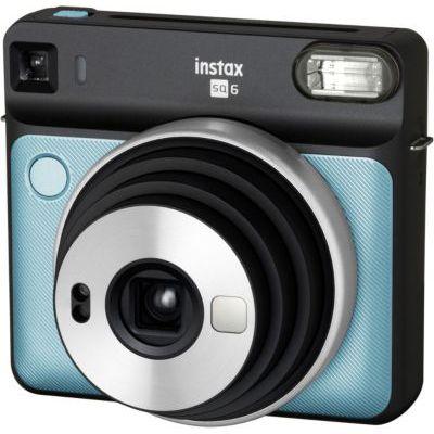 image Fujifilm INSTAX SQ6 AQUA BLUE Appareil photo instantané Bleu Aqua &  Film INSTAX Square WW (10X2 PK) Kit de 2 Films 10 Vues Blanc