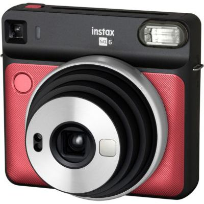 image Fujifilm INSTAX SQ6 Ruby Red Appareil Photo instantané Rouge/Bleu & Instax Lot de 10 Films carrés pour éclairage étoilé