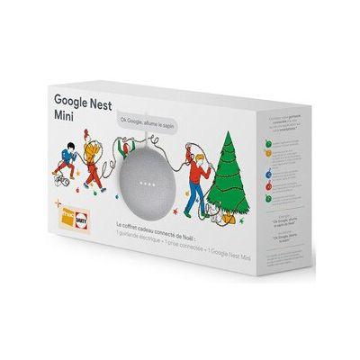 image Enceinte intelligente Google Coffret connecté de Noël avec Google Nest Mini