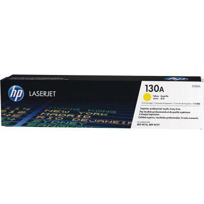 image HP 130A CF352A pack de 1, toner d'origine, imprimantes HP Color LaserJet Pro, jaune
