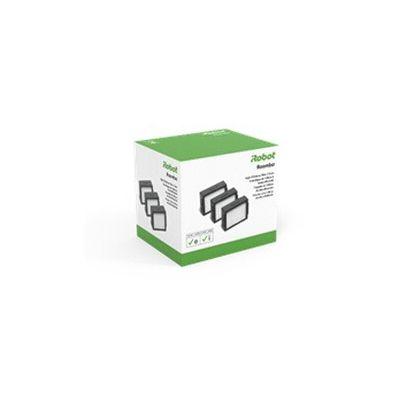 image irobot 4624876, Lot de 3 filtres pour aspirateur Robot Roomba séries i et e, Noir et Blanc