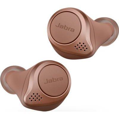 image Jabra Elite Active 75t Écouteurs sport sans fil avec réduction active du bruit et autonomie élevée de la batterie pour appels et musique – Sienne