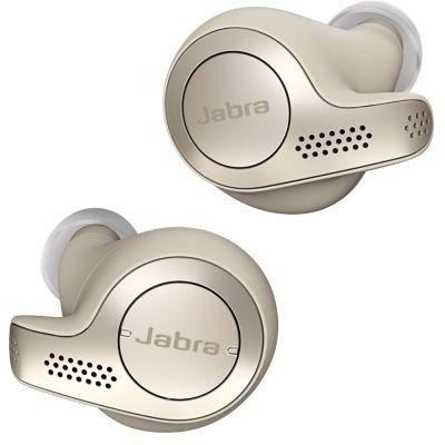 image Jabra Elite 65t Écouteurs - Écouteurs Bluetooth sans Fil à Isolation Passive du Bruit avec Technologie à 4 Microphones - Beige Doré