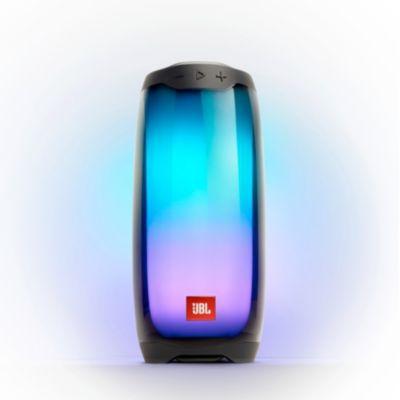 image JBL Pulse 4 – Enceinte Bluetooth portable lumineuse – Système de son à 360 degrés – Autonomie 12 hrs – Étanche pour piscine & plage – Noir