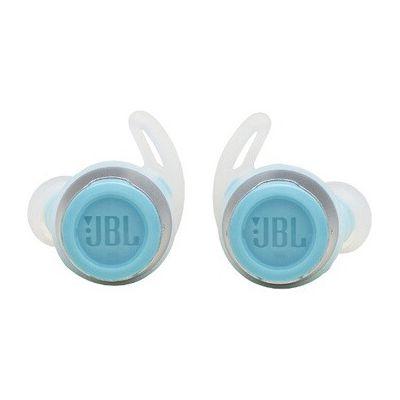 image JBL Reflect Flow – Écouteurs intra-auriculaires sans fil pour le sport – Bluetooth et étanchéité IPX7 – Autonomie de 30 heures avec l'étui de recharge – Couleur : bleu et blanc