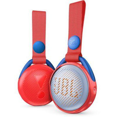 image JR POP JBL - Enceinte Portable pour Enfants - Bluetooth & Waterproof - Avec Modes Lumineux Multicolores & Autocollants - Autonomie 5 hrs - Bluetooth, Rouge