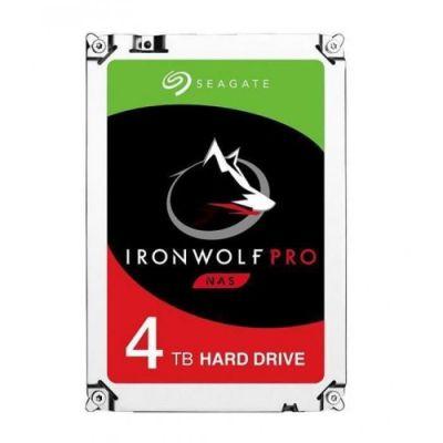 image Seagate IronWolf Pro 4 To, Disque dur interne NAS HDD – CMR 3,5 pouces SATA 6 Gbit/s 7 200 tr/min, 128 Mo de mémoire cache, pour NAS RAID, services de récupération des données Rescue (ST4000NE001)