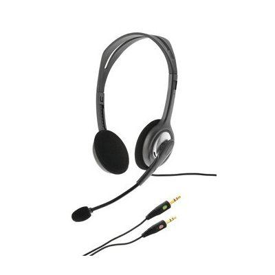 image Logitech H110 Casque Filaire, Ecouteurs Stéréo avec Micro Anti-Parasite, Double Fiche Jack 3,5mm, PC/Mac/Portable - Noir
