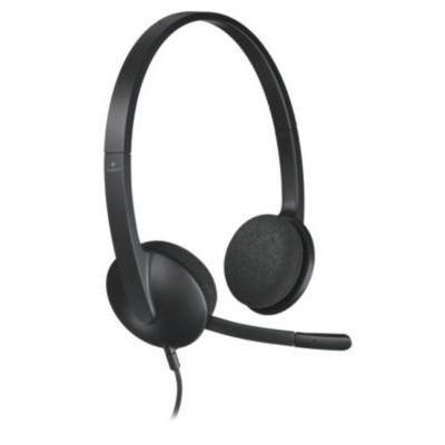 image Logitech H340 Casque Filaire, Ecouteurs Stéréo avec Micro Rotatif Anti-Parasites, USB, PC/Mac/Portable - Noir