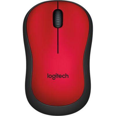 image Logitech M220 Souris sans Fil, Boutons Silencieux, 2,4 GHz avec Nano-Récepteur, Suivi Optique 1000 PPP, Batterie Longue Durée 18 Mois, Ambidextre, Compatible avec PC/Mac/Portable - Rouge