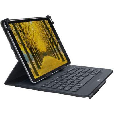 image Logitech Universal Folio Etui iPad/Tablette avec Clavier sans Fil Bluetooth, pour Ipad 9-10 Pouces/Tablette Windows, Configuration Facile, Batterie Longue Durée 2 Ans, Clavier AZERTY Français - Noir