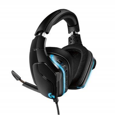 image Logitech G635 Casque Gamer Filaire, DTS Headphone:X 2.0 Son 3D Surround, Transducterus Pro-G 50mm,, USB/Jack 3,5mm, Micro avec Sourdine Flip-Up, RVB LightSync, PC/Mac/Xbox One/PS4/Nintendo Switch