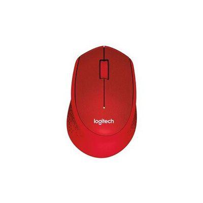 image Logitech M330 Souris sans Fil Silent PLUS, 2,4 GHz avec Nano-Récepteur USB, Suivi 1000 PPP, 3 Boutons, Batterie Longue Durée 24 Mois, Compatible avec PC/ Mac/Portable - Rouge