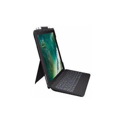 image Logitech Slim Combo Etui iPad, Clavier Détachable, iPad Pro 10.5 Pouces (2nd Génération Modèles: A1701, A1709, A1852), Touches Rétroéclairées, Ipad Smart Connector, Clavier AZERTY Français - Noir