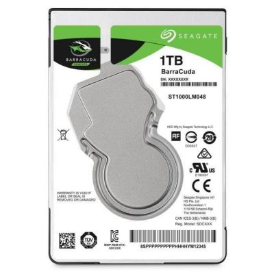 image SEAGATE - Disque dur Interne - BarraCuda - 1To - 5 400 tr/min - 2.5- (ST1000LM048)
