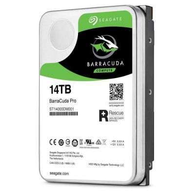 image SEAGATE - Disque dur Interne HDD - BarraCuda Pro - 14To - 7 200 tr/min - 3.5- (ST14000DM001)