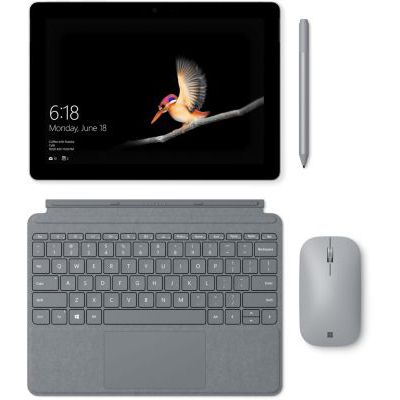 image Microsoft Type Cover Signature Surface Go Platine (Alcantara) AZERTY