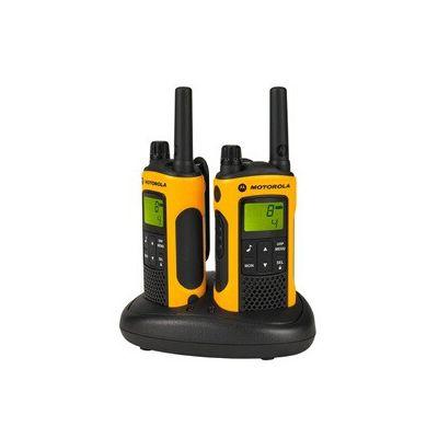 image Motorola Paire de talkies walkies Motorola T80EX portée en champs libre 10km Jaune