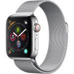 image produit AppleWatch Series4 (GPS + Cellular) Boîtier en AcierInoxydable de 40mm avec BraceletMilanais