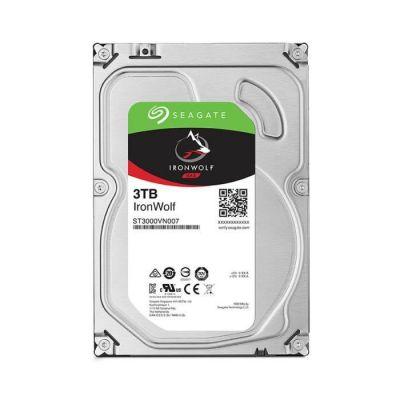image Seagate IronWolf 3 To, Disque dur interne NAS HDD – CMR 3,5 pouces SATA 6 Gbit/s 5 900 tr/min, 64 Mo de mémoire cache, pour NAS RAID, services Rescue valables trois ans (ST3000VN007)