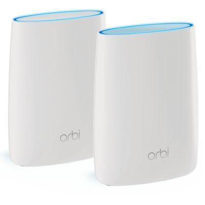 image NETGEAR Système WiFi Mesh Tri-Bandes Orbi (RBK50), AC3000, pack de 2, un WiFi partout dans la maison, WiFi beaucoup plus performant que votre box, 350m², idéal pour les murs épais, Contrôle Parental