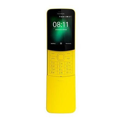 image Nokia 8110 - Téléphone portable débloqué 4G (Ecran 2,4 pouces, ROM 128Go, Double SIM Appareil photo 2MP) Jaune
