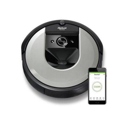 image iRobot Roomba i7156 Aspirateur Robot connecté avec Aspiration Surpuissante - brosses en Caoutchouc Multisurfaces - Idéal pour les Poils D'animaux - Apprend, Cartographie et s'adapte à Votre Intérieur