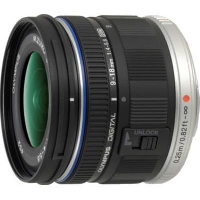image Olympus M.Zuiko Objectif Digital ED 9-18mm F4.0-5.6, zoom grand angle, compatible tout appareil Micro 4/3 (modèles Olympus OM-D & PEN, Panasonic G-series), Noir