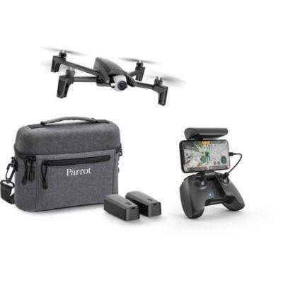 image Parrot - Drone Parrot Anafi Pack Extended - avec 1 Sac de Voyage + 2 Batteries Intelligentes Supplémentaires - Drone avec Caméra 4K HDR Pivotant à 180° & Anafi–Hélices pour Drone, Couleur Gris