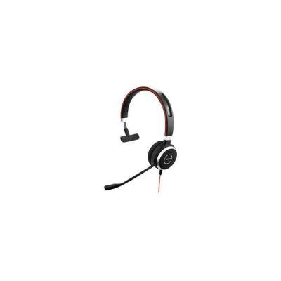image Jabra Evolve 40 UC Mono Casque audio - Casque Unified Communications pour VoIP Softphone avec annulation passive du bruit - Câble USB avec contrôleur - Noir