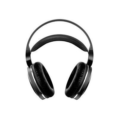 image Casque Philips Circum-aural sans Fil pour téléviseur SHD8850/12 Casque HiFi sans Fil (Excellent Son Haute résolution, portée utile 30 m, Base de Recharge, Coussinets en Velours) Noir