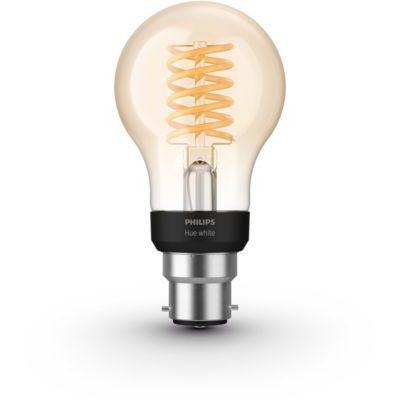 image Philips Hue Ampoule LED Connectée White Filament B22 Forme Standard Compatible Bluetooth, Fonctionne avec Alexa