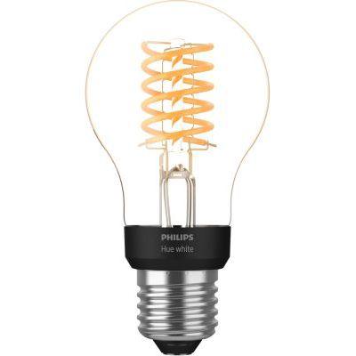 image Philips Hue Ampoule LED Connectée White Filament E27 Forme Standard, Compatible Bluetooth 7 W, Fonctionne avec Alexa et Google Assistant