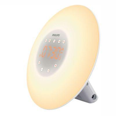 image Philips Eveil Lumière - HF3505/01 - Simulateur d'aube avec lampe LED (10 réglages) et interface tactile - Blanc