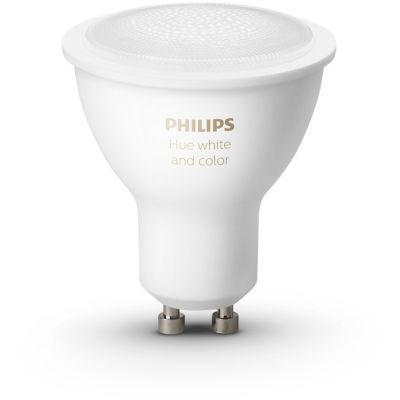 image Philips Hue 3 Ampoules LED Connectées White & Color GU10 Compatible Bluetooth, Fonctionne avec Alexa