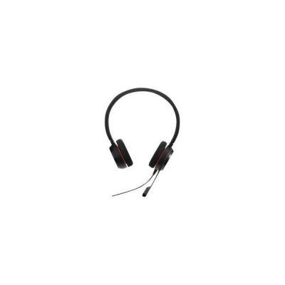 image Jabra Evolve 20 Stereo Casque audio - Casque certifié Microsoft pour VoIP Softphone avec annulation passive du bruit - Câble USB avec contrôle volume - noir