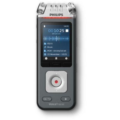 image Philips Enregistreur Voicetracer audio pour La Musique, Cours, Conférences, et Interviews - Qualité D'Enregistrement de 24 bits/96 Khz - DVT6110