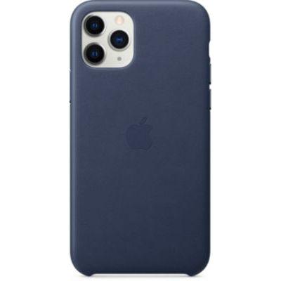 image Apple Coque en cuir (pour iPhone 11 Pro) - Bleu Nuit