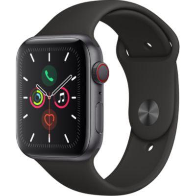 image AppleWatch Series5 (GPS + Cellular, 44 mm) Boîtier en Aluminium GrisSidéral - BraceletSport Noir
