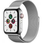image produit Apple Watch Series 5 (GPS+Cellular, 44 mm) Boîtier en Acier Inoxydable - Bracelet Milanais