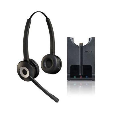 image Jabra Pro 930 Duo UC Casque Stereo DECT sans Fil - Optimisé pour Communications Unifiées, Antibruit et Autonomie d'une Journée - Pour Logiciels Softphones en Europe - Prise UE