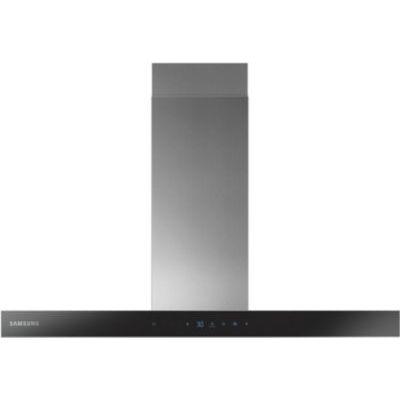 image Samsung NK36N5703BS hotte 722 m³/h Monté au mur Noir, Acier inoxydable A - Hottes (722 m³/h, Conduit/Recirculation, A, A, C, 72 dB)