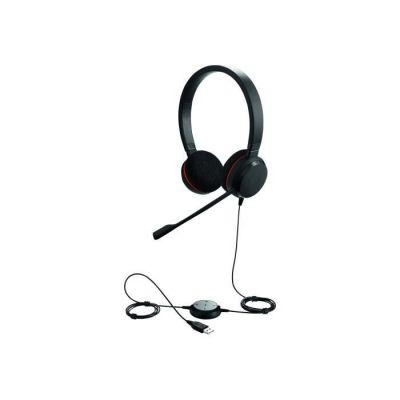 image Jabra Evolve 20 SE UC Stereo Headset - Écouteurs Unified Communications pour Softphone VoIP avec Suppression Passive du Bruit - Câble USB-A avec Contrôleur - noir