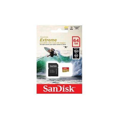 image SanDisk Extreme 64Go Carte microSDXC (160Mo/s, Class 10, U3, V30)