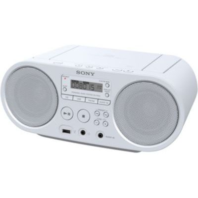 image Sony ZSP-S50W Lecteur CD/MP3, USB, Radio - Blanc