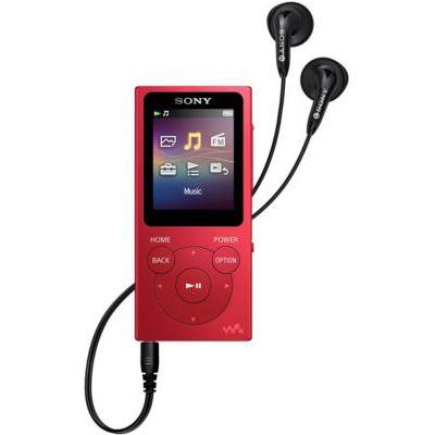 image Lecteur MP3 Walkman Sony NWE394R.CEW 8 Go avec radio FM - Rouge