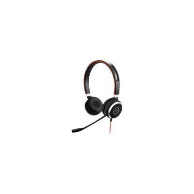 image Jabra Evolve 40 UC Stereo Headset - Casque audio Unified Communications pour VoIP Softphone avec annulation passive du bruit - Câble USB avec contrôleur - Noir