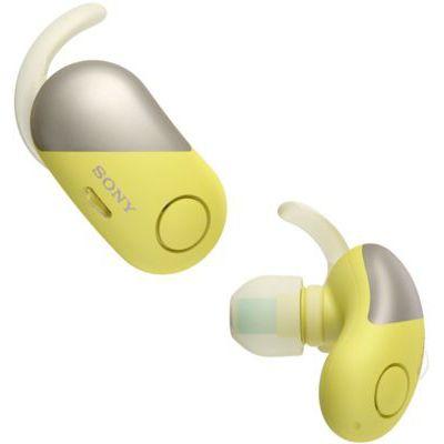 image Sony WF-SP700N Ecouteurs Sport Veritablement Sans Fil à Reduction de bruit - Jaune, avec Amazon Alexa Intégrée